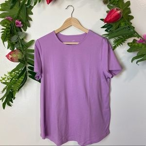 J. Jill cute purple short sleeve solid blouse 1X
